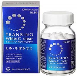 무료배송! 트란시노 화이트 C 클리어 120정  / 여드름 기미 잡티 개선제 /  TRANSINO / 트란시노2 / 기미 주근깨의 원인이되는 멜라닌의 생성을 억제