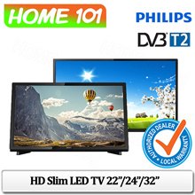 Philips Full HD Ultra Slim LED TV With DVB-T/T2 22 Inch / 24 Inch / 32Inch