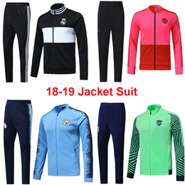 18-19 Jacket Suit Barcelona Manchester City AC Milan Juventus Dortmund Zip Jacket Uniform