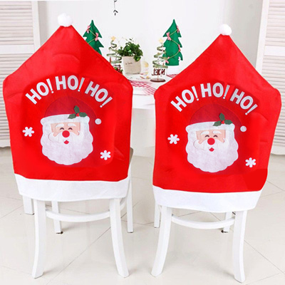 Christmas Chair Back Covers.Christmas Chair Covers Cute Cartoon Santa Claus Dining Chair Back Covers Christmas Party Xmas Table
