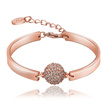 Environmentally friendly rose gold round ornaments Czech diamond bracelet ladies jewelry go out with
