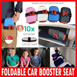 Portable Foldable Car Booster Seat Compact Travel Foldable Child Kids Safety Booster Seat★Uber Grab