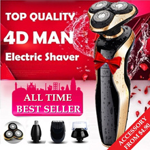 Upgraded Version Men's Wet and Dry Electric Shaver with Accessories