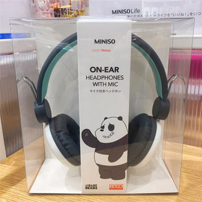 f377fc2b18d Miniso Name Excellence Products we bare bear with wheat head headphones  headset