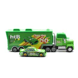 online Disney Pixar Cars 2 Toys 2pcs Lightning McQueen Mack Truck The King 1:55 Diecast Metal Alloy