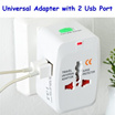 Universal Travel Adapter with 2 usb port