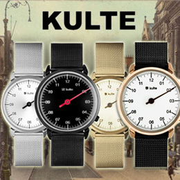 Kulte Watches /  36mm case size / 1 ATM Waterproof / Mineral Double Curve Lens