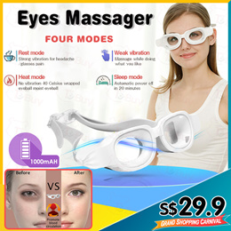 TOA Electric Eyes Massager Rechargeable Wireless Massage with Heating Air Pressure Reduce Fatigue