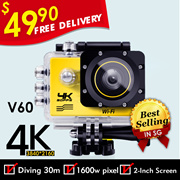 🌟 FREE  DELIVERY 🌟 4K WiFi V60 Action Camera Waterproof Car Camera◎Best Seller In SG