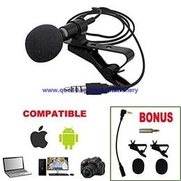 Premium Lavalier Lapel Microphone Clip-on Omnidirectional Condenser Mic For Apple IPhone,Android,Win