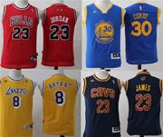 NBA Curry James Kobe Jordan basketball teenager children jersey