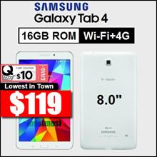 Samsung Galaxy Tab 4 / 8.0 inch / Wi-Fi+4G / SM-T337 / 1.5GB RAM / 16GB ROM / Refurbish