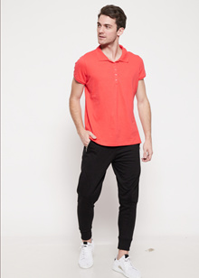 The - Fahrenheit Arley Polo Men T-Shirt - Orange