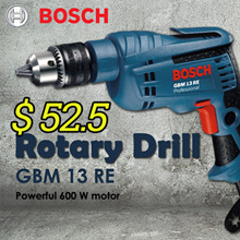 Bosch Rotary Drill GBM 13 RE/ GSB 10 RE - Powerful 600 W motor for tough applications. The qualitie