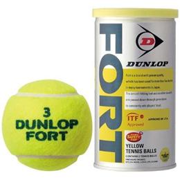 ダンロップ(DUNLOP) フォート FORT 2球入り 1箱 30缶/60球 【硬式テニスボール 試合球 練習球 プレッシャーライズドテニスボール】