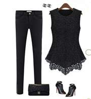 9eae9413 Quick View Window OpenWish. rate:new. New Ladies Women Lace Blouse  Sleeveless shirt Doll Chiffon Tops