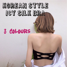 LINGERIE BRA KOREAN STYLE ICY SILK Buy 2 Free 1 with free gift Clearance Sales
