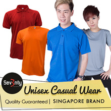 ★Sev3nty UNISEX Casual Wear★ Size XXS to XXXL★Available in Round Neck / Polo / Cotton / Drifit