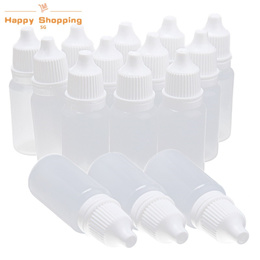 SG  Shopping 50 Pieces 10ml Vacuum Plastic Compressible Eyedrop Bottles New