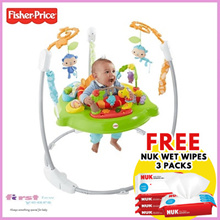 Fisher Price Rainforest Friends/ Roaring Rainforest Jumperoo. FREE NUK WET WIPES +APPLY QOO10 COUPON