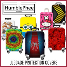 *Buy 1 Free 1 Luggage Belt* Elastic Travel Luggage Bag Protector Cover 100+ Designs