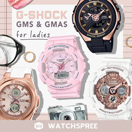 [APPLY SHOP COUPON] BABY-G AND G-SHOCK G-MS AND GMAS Watches. MSG400G S SERIES. Free Shipping!