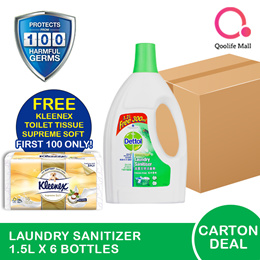 [RB Health] CARTON DEAL: 6 x Dettol Laundry sanitizer fresh pine 1.2L + 300ml