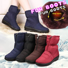 High Quality Waterproof Winter Warm padding fur boots fur/winter boots/shoes / Snow Boots
