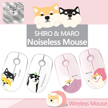 [Q-commerce]★Shiro and Maro Wireless Mouse/ Silent Comfort/ Noiseless Mouse/ 2.4GHz/ Power Saving