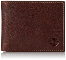 AUTHENTIC Timberland Mens Genuine Leather Wallet with Gift Box Sportz Bifold Passcase Brown IN STOCK