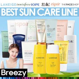 BREEZY ★ BEST SUN CARE / Sunscreen / Sunblock [LANEIGE ESPOIR THEFACESHOP innisfree IOPE HANYUL]