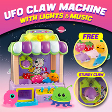 UFO CLAW CATCHER MACHINE / Bring the arcade back to home / Children Kids Baby Toys