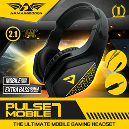 MOBILE 2.1 HEADPHONES   PULSE 7 MOBILE EDITION   STEREO 2.1 WITH DEEP BASS