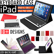 NEW IPAD Pro 10.5 9.7 2017 Wireless Bluetooth Keyboard PU Leather Case Cover Air 2