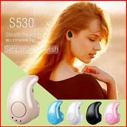 S530 Bluetooth Headset Wireless 4.1 Stealth Ultra Small Sport Mini Stereo Bluetooth Headset