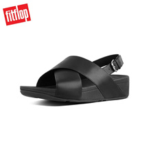 Fitflop™ Lulu Cross Leather Black Women Flat Sandals