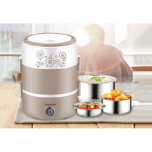 2 Tiers Portable Multi Purpose Electric Lunch Box Steamer Heating Lunch Boxes Electric Soup Cooker S