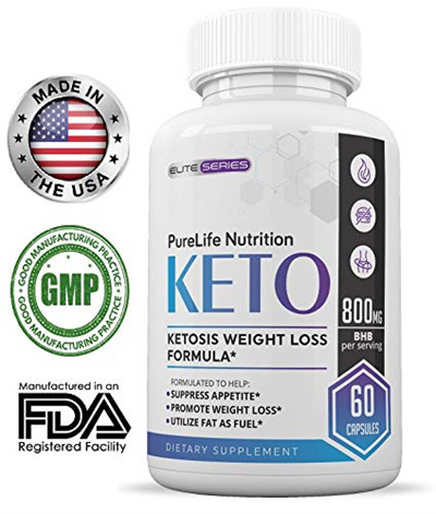 Purelife Keto Weight Loss Supplement Fat Burner Pills Extra Strength Appetite Suppressant For