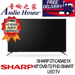 SHARP 2T-C45AE1X 45 DVB-T2 FHD SMART LED TV ***1+2 YEAR SHARP WARRANTY***