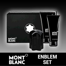 MONT BLANC EMBLEM PERFUME SET 100ML(PERFUME/SHOWERGEL/AFTER SHAVE)