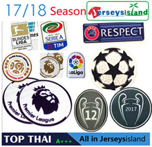 2018 17/18 Jersey soccer Football League UEFA badge set patch Premier League LaLiga Serie A  Ligue 1
