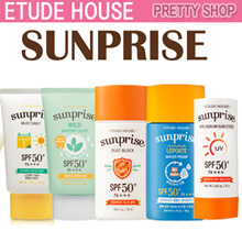 ★ETUDE HOUSE★ Sunprise Sun Cream Line (Super Aqua / Must Daily / All Proof / Natural Corrector / Watery Light/Airy Finish/ Mom and Kids / Face and Body Sun Spray)