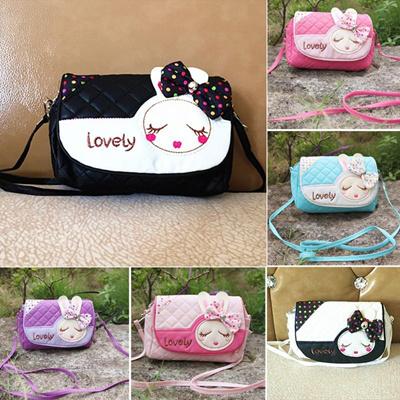 4c801426c1f Baby Girls Fashion Bags Girl Accessories Kids bowknot Handbags Children PU  Rabbit Bowknot Shoulder
