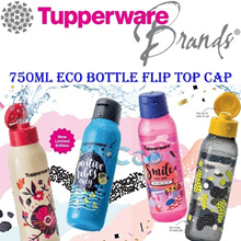 750ml Eco Water Bottle ★ Authentic TUPPERWARE ★ BPA Free * Lifetime Warranty *
