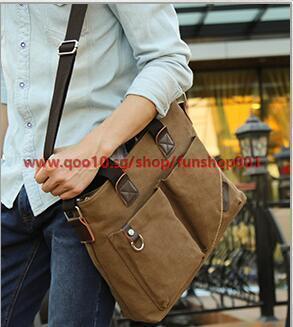 Business man bag canvas bag casual shoulder bag backpack outdoor mens messenger bag cross bag handba Deals for only S$53.2 instead of S$0