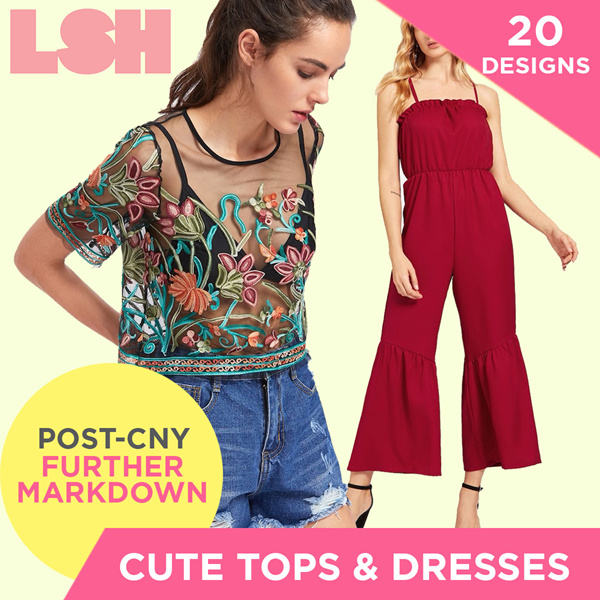 [FREE SHIPPING] LUSH CUTE TOPS AND DRESSES Deals for only S$59.9 instead of S$59.9