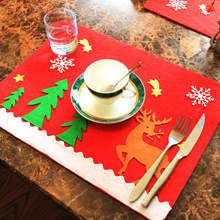 Hoomall Table Mat Placemat for kitchen Insulation Pad Coaster Home Decor Navidad DIY 2018 Christmas