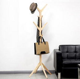 Wooden Clothes Hanger Coat Stand * Solid Wood