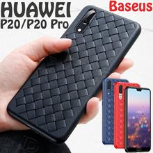 Baseus Pattern Case BV For Huawei P20 P20 Pro Luxury Grid Matte Hollow Silicone Case