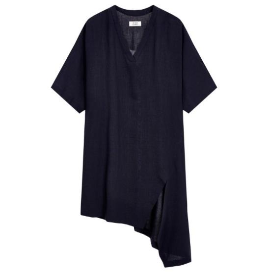お転婆V・ネックラインルーズフィットワンピース9107341524 シフォン/レース/フリル/ 韓国ファッション